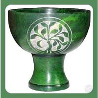 Green Tree of Life Chalice Incense Burner
