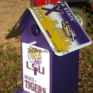 30% OFF Today LSU birdhouse, LSU Tigers birdhouse, Lsu Tigers, Louisiana State University, go tigers, geaux tigers