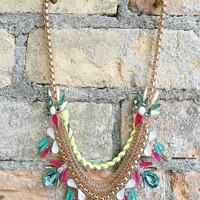 Accessories : Neon Jeweled Necklace