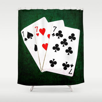 Blackjack Twenty One Shower Curtain by digital2real