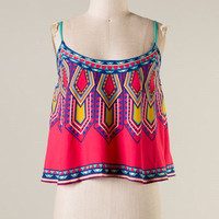Natural Mystic Crop Top - Pink Red - Hazel & Olive