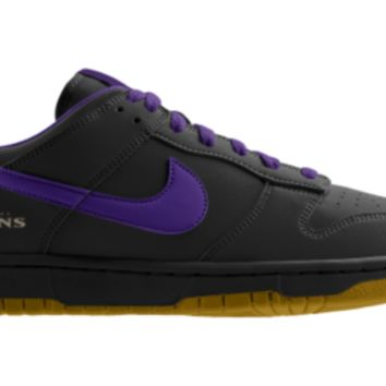 Nike Dunk Low NFL Baltimore Ravens iD Custom Men's Shoes - Black