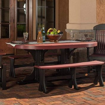 LuxCraft Recycled Plastic Oval Table