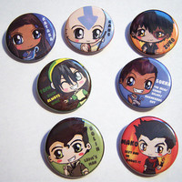 Avatar the Last Airbender Legend of Korra Buttons by IcyPanther