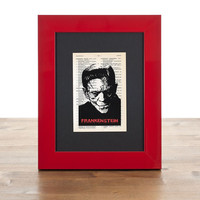 Frankenstein  tiny dictionary print - 4x6 on vintage dictionary page - only by NATURA PICTA
