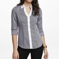 LONG SLEEVE COLOR BLOCK ESSENTIAL SHIRT