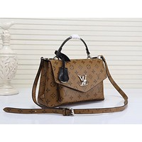 LV Louis Vuitton LEATHER MY LOCKME HANDBAG INCLINED SHOULDER BAG