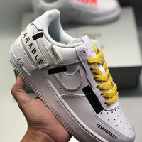 """Nike Air Force 1""""Swoosh Temporary Wearable"""" cheap Men's and women's nike shoes"""