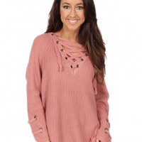 Last Call Sweater in Salmon | Monday Dress Boutique