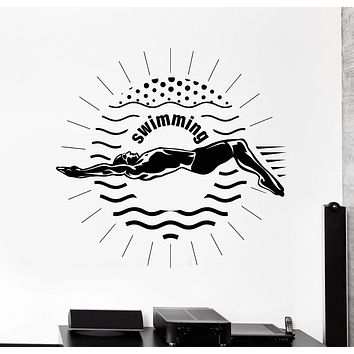 Vinyl Wall Decal Swimming Swimmer Sport Stickers Mural Unique Gift (ig4227)