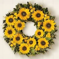 Preserved Sunflower Wreath