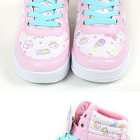 Fresh punch sneakers with anime clip sneaker L ☆ ★ kuroneko DM flights cannot be