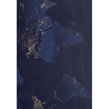 Earth at Night Yoga Mat
