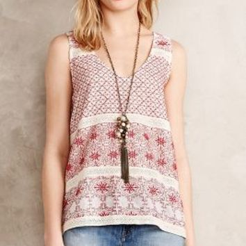 Juni Sleeveless Top by Velvet by Graham and Spencer Red Motif