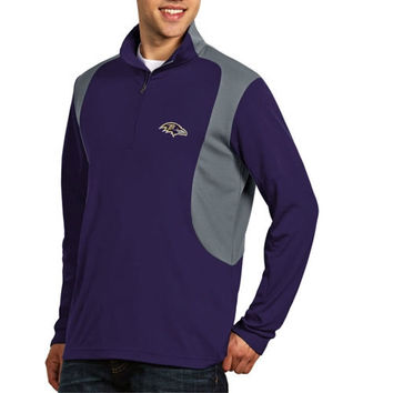 Baltimore Ravens Antigua Delta Quarter Zip Pullover Jacket – Purple