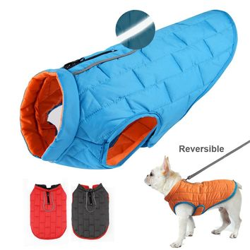 Dog Clothes French Dog Jacket Winter Pet Clothing Waterproof Reflective Coat ropa para perro For Small Medium Large Big Dogs