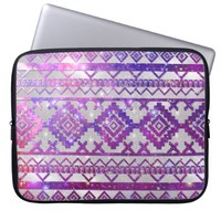 Aztec Tribal Diamond Pattern Pink Nebula Galaxy