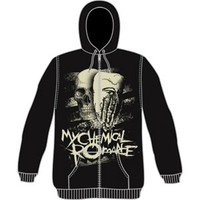 My Chemical Romance Masquerade Zippered Hooded Sweatshirt - My Chemical Romance - M - Artists/Groups - Rockabilia