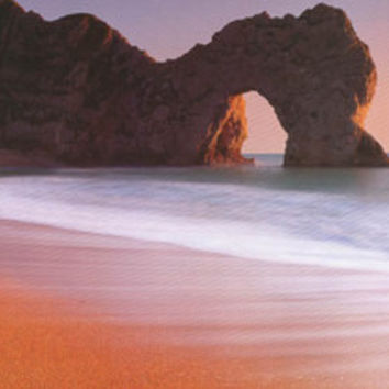 Durdle Door Dorset UK Beach Poster 21x62
