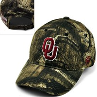 Top of the World Oklahoma Sooners Resistance Mossy Oak Camouflage Adjustable Cap - Adult, Size: One Size (Green)