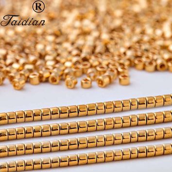 Top Quality 24k Gold Matellic Japanese Glass Delica Seed Beads For Jewelry Making And Accessory 11/0 1.6mm 5g/bag