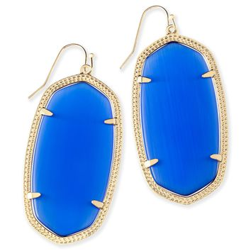 Danielle Gold Statement Earrings in Cobalt | Kendra Scott