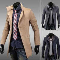 Slim Fit Turtleneck Blazer Jacket