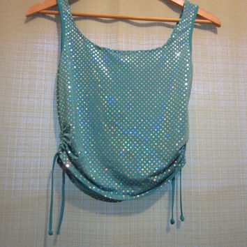 Holographic cyber 90s top