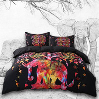 Boho Psychedelic Elephant Tree Duvet Cover SET
