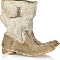 N.D.C. San Telmo brushed-suede and canvas boots - 50% Off Now at THE OUTNET