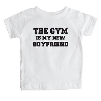 The Gym Is My New Boyfriend Baby Tee