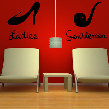 Vinyl Wall Decal Sticker Ladies and Gentlemen #OS_MB1119