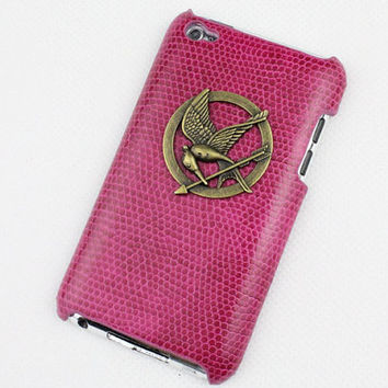 hunger games mockingjay And Plum Purple Hard Case Cover for Apple Ipod Touch 4, iPod Touch 4th,iTouch 4,iPod Touch 4gen Hard Case Cover