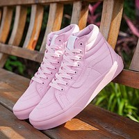 Sale Vans Sk8-Hi Pink 50th Anniversary Commemorative Section Sneakers Casual Shoes