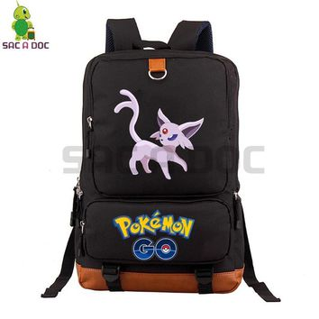 Go Espeon Backpack School Bags for Teenagers Students Daily Laptop Backpack Large Capacity Travel RucksackKawaii Pokemon go  AT_89_9