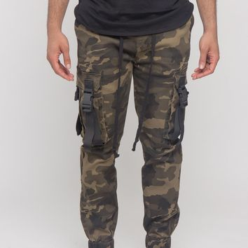 Utility Buckled Jogger Pants