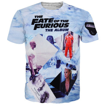 Furious 7 Fashion T Shirt Men Paul Walker Paparazzi T-Shirt sexy The Fast and The Furious wonderful paul tee awesome 3d t shirt