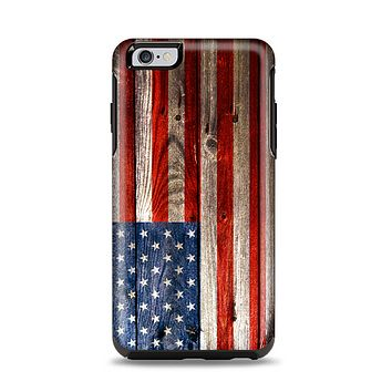 The Wooden Grungy American Flag Apple iPhone 6 Plus Otterbox Symmetry Case Skin Set