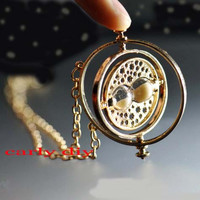 Harry Potter - the Bib necklace 18 k Harry Potter Jewelry character Granger Time Turner necklace