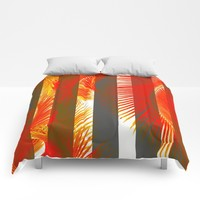 RED PALMS Comforters by Chrisb Marquez