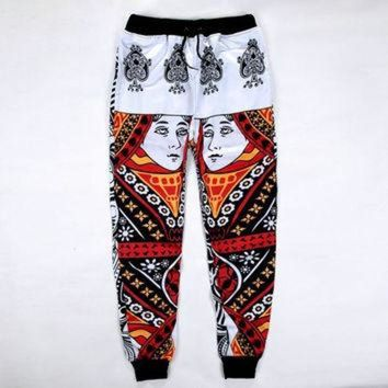 DCCKHD9 Harem Sweatpants Trousers Printed Casual for Jordan Emoji Joggers