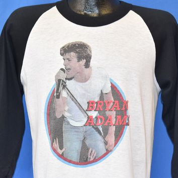 80s Bryan Adams World Wide Tour 1985 t-shirt Medium