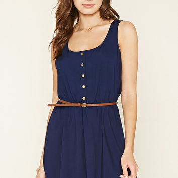 Button-Down Woven Dress