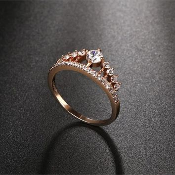 Crown Shaped Princess Ring