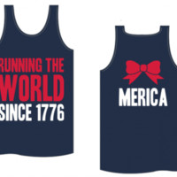 Running the World Since 1776: Merica Tank - Kiss My Southern Sass