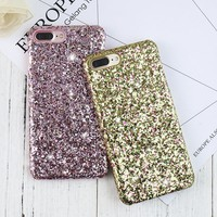 KISSCASE Colorful Glitter Case For iPhone 6 6s 7 8 Plus Back Cover Ultra Thin PC Phone Shell For iPhone 5 5S SE Cases Accessorie