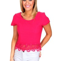 We'll Meet Again Ruby Pink Crop Top | Monday Dress Boutique