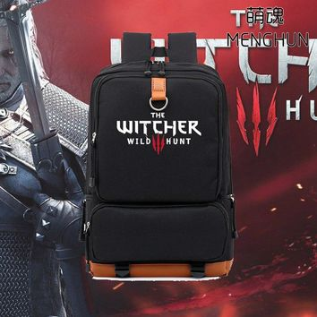 new design game concept Video game Pc game The Witcher Wild Hunt backpack game fans backpacks gift for boyfriend bags nb185