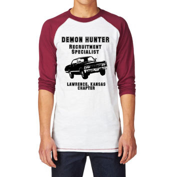 Supernatural, Demon Hunter Recruitment Specialist Unisex Baseball Tee, 67 Impala