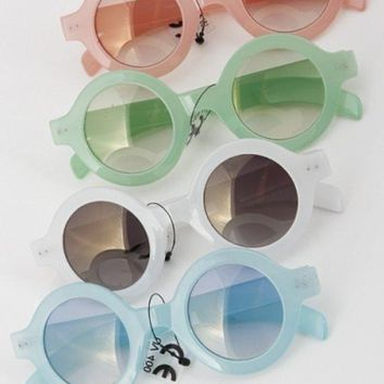 Pastel Round Hollywood Sunglasses